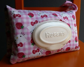 Hello Kitty Gingham Print Easy Wipe Access Diaper Clutch