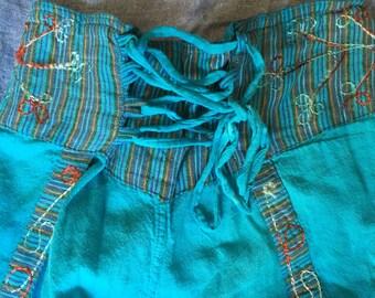 Blue Festival/Yoga Pants