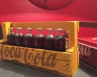 Hand painted Coca Cola pallet shelves