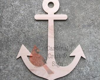 FAST SHIPPING Wooden Anchor Door Hanger Unfinished Front Door & Anchor door hanger | Etsy Pezcame.Com
