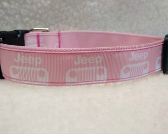 Jeep Dog Collar  1 Inch Wide