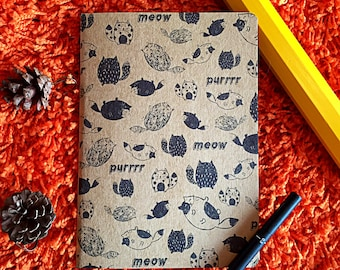 a5 Cat recycled brown notepad sketchbook