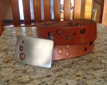 Leather belt (buckle sold separately)