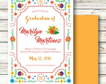Graduation Announcement Festive Fiesta