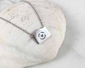 Camera Necklace//Silver Camera Necklace//Polish Camera//Tiny Camera//Perfect Gift for Her