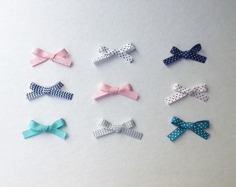 Small Bow Ribbon Barrattes for babies, toddlers and girls