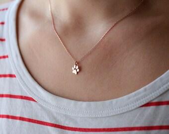 Small Paw Print Necklace • Paw Necklace • Dog Paw • Cat Paw • Paw Print Necklace • Paw Jewelry • Paw Print • Silver Necklace • Jewelry