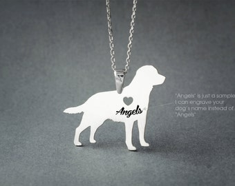 LABRADOR RETRIEVER NAME Necklace - Labrador Retriever Name Necklace - Personalised Necklace - Dog breed Necklace - Dog Necklace
