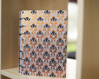 Copper and Silver Coptic Stitch Journal