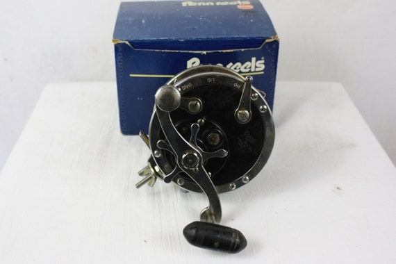 Vintage fishing reel penn no 49 deep sea 1930 39 s salt for Penn deep sea fishing reels