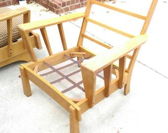 Vintage Mid Century wood arm chair Atomic original