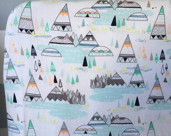 Fitted Crib Sheet - baby bedding sheet/Tipi/teepee/Baby Bedding