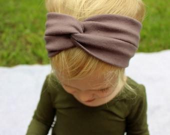 muted purple turban headband