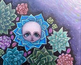 Succulent Infant #2 Original Painting