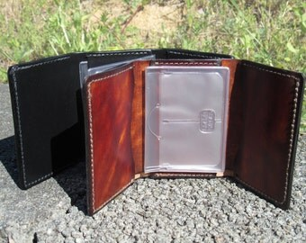 Monogrammed Mens Leather Trifold Wallet - Gift for Him - Birthday Gift - Custom - Father's Day