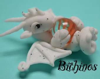 White Dragon polymer clay