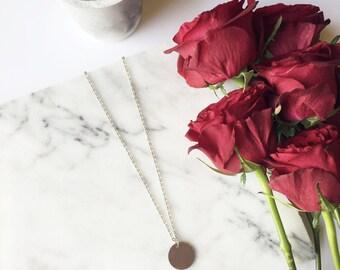 Single Coin Necklace / Coin Necklace, Coin Necklaces, Silver Coin Necklace, Coin Necklace Silver, Disc Necklace, Silver Disc Necklace