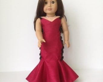American Girl Doll Red Carpet Mermaid Gown