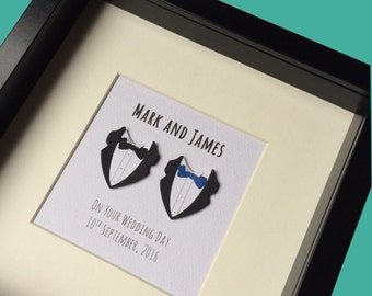 Personalised Gay Gift:  Gay anniversary Gift, Gay marriage Gift, Gay decor, Gay Engagement Gift