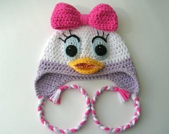 Daisy Duck  Baby Hat/Daisy Duck/Daisy Duck hat/Daisy Duck beanie/Crochet Daisy Duck/Daisy Duck photo prop/Daisy Duck baby/beanie baby duck