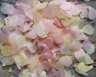 1200 Wedding throwing confetti dove/love bird shaped!Mix of White & Pink and Cream/Ivory .medium size.table Decoration. Spring summer pastel