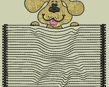 Machine embroidery design Dog 3D effect For girl For boy Pocket Embroidery design Instant download