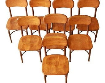 ON SALE! Heywood-Wakefield Children's Chairs - Set of 8