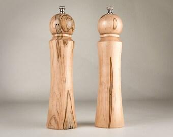 "Ambrosia Maple  10"" salt and pepper mill set"