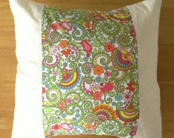 Floral Pillow Cover 13x13 14x14 35x35 33x33 Made in Hawaii Cushion Cover Gift for Girls