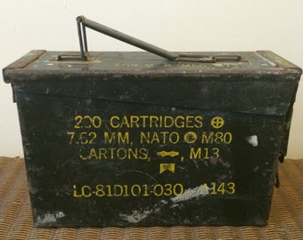 M80 M13 Military Army Ammo Box Tin with lid