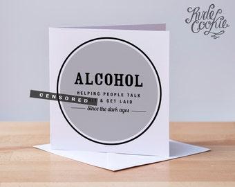 Funny alcohol birthday card