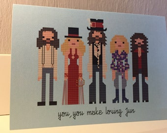 Fleetwood Mac blank greeting card