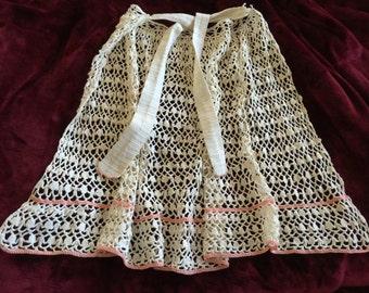 Vintage Crocheted Half-Apron