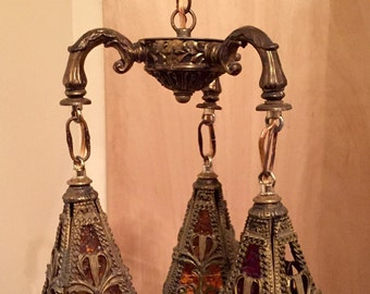Antique 3 light pendant