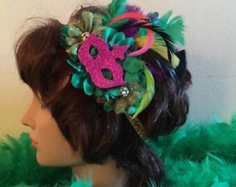 Mardi Gras Headband, Mardi Gras Masquerade Headband, New Orleanes Mardi Gras Headband, Carnival Headband, Mardi Gras Accessory