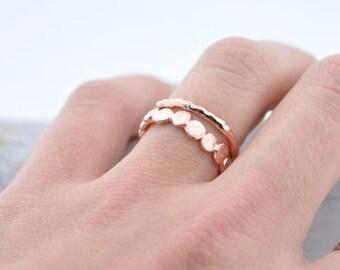 Rose Gold Vermeil Raw Ring | Stacking Ring | Vermeil Ring