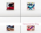 Sex Blogger Photo Magnet 4 Pack (Mature)