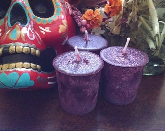 Sacred Witch Power™   Dragons Blood Palm Wax Votive Candles Fire Element