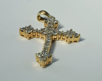 Beautiful, Ornate and Brilliant Diamond Cross ~ Approx. 1 ct tw.