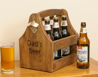 Beer caddy / bottle holder with opener
