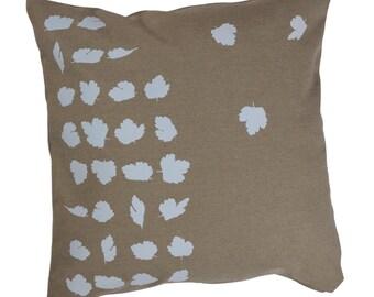 Gooseberry Leaf design on cotton linen Cushion Cover