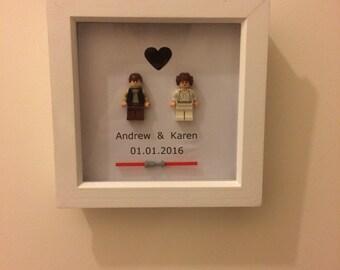 Personalised Star Wars Lego wedding gift