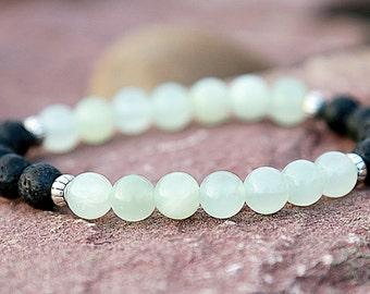 Healing bracelet Black lava bracelet Onyx bracelet Beaded Bracelet Gemstone Jewelry Healing Jewelry Stretch Bracelet Nature Bracelet