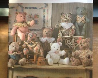 Simplicity 9894 Stuffed Bear pattern