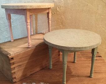 Miniature Farmhouse Table, Dollhouse Kitchen Table, Miniature French County Table, 1:12 Scale Miniature Dollhouse Furniture