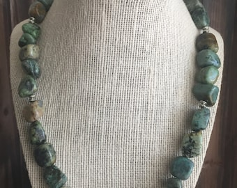 African Turquoise Necklace. African Turquoise. Turquoise Necklace. Multi-Color Turquoise. Multi-Color Necklace.