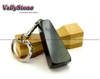 "Genuine Shungite Pendant for keys ""Trapezium"". Rare shungites health stone"
