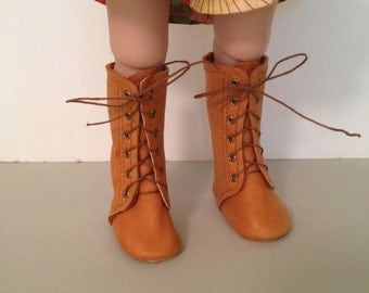 Handmade Distressed Leather Lace Up Knee Boots for Sasha and A Girl For All Time