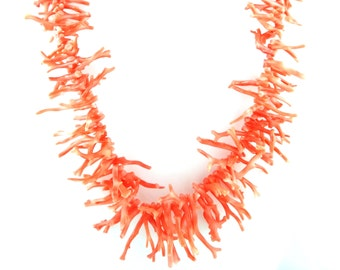 Branch Orange Coral Necklace