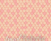 Woven Fabric - Scales in Pink Chai - Fat Quarter Yard +